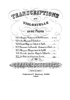 Ночь для альта (или виолончели) и фортепиано: Партитура, сольная партия by Фелисьен Давид