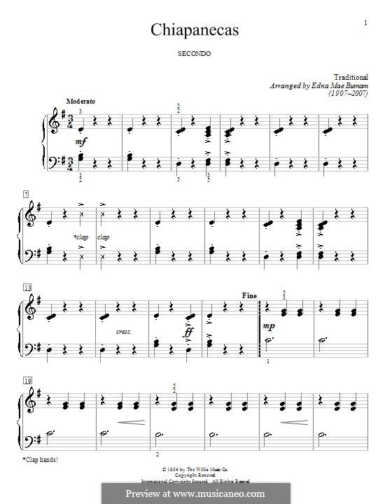 Chiapanecas: Для фортепиано by folklore