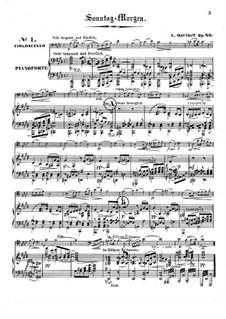 Четыре пьесы для  виолончели и фортепиано, Op.20: Партитура by Карл Давыдов