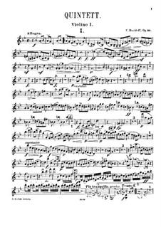 Фортепианный квинтет соль минор, Op.40: Скрипка I by Карл Давыдов
