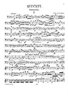 Фортепианный квинтет соль минор, Op.40: Партия виолончели by Карл Давыдов