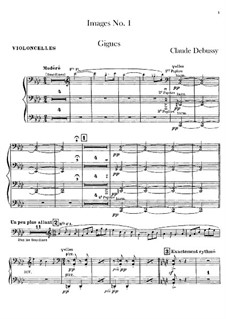 Set III, No.1 Gigues, L.122: Партия виолончелей by Клод Дебюсси