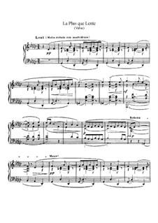 La plus que lente, L.121: Для фортепиано by Клод Дебюсси