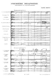 Рапсодия No.1 соль-бемоль мажор, L.116: Партитура by Клод Дебюсси