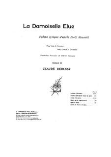 Дева-избранница, L.62: Партитура by Клод Дебюсси