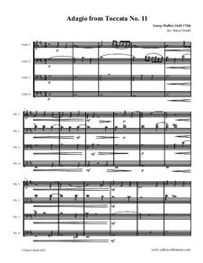 Токката до минор: Adagio, for four cellos (intermediate cello quartet) by Георг Муффат