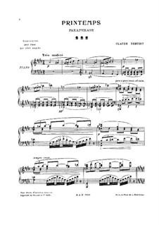 Printemps: Paraphrase, for Piano by Клод Дебюсси