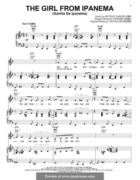 The Girl from Ipanema (Garota de Ipanema): Для голоса и фортепиано или гитары (Amy Winehouse) by Antonio Carlos Jobim