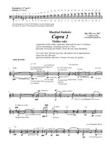 Capra 2 (Violin solo): Capra 2 (Violin solo) by Manfred Stahnke