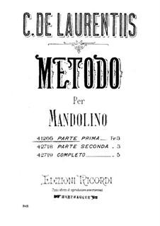 Metodo per Mandolino: Metodo per Mandolino by Carmine de Laurentiis