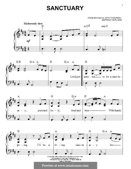Sanctuary: Для фортепиано by Randy Scruggs, John Thompson