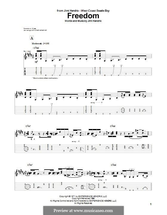 Freedom: Для гитары by Jimi Hendrix