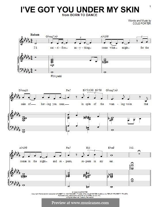 I've Got You under My Skin: Для голоса и фортепиано или гитары (Landau Eugene Murphy, Jr.) by Кол Портер
