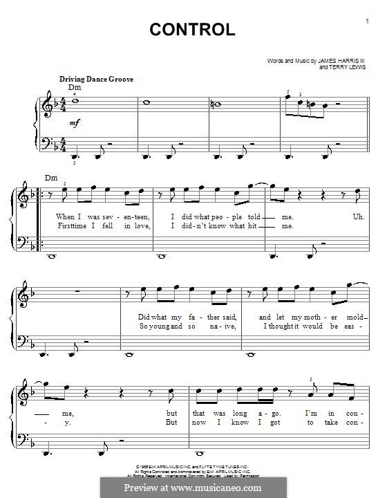 Control: Для фортепиано (легкий уровень) (Glee Cast) by James Samuel Harris III, Terry Lewis