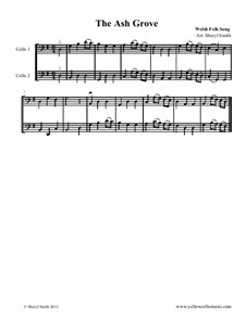 The Ash Grove: For two beginner cellists / cello duo by folklore