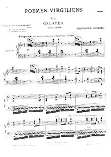 Poèmes virgiliens: No.2 Galatea by Теодор Дюбуа