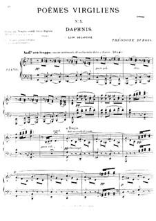 Poèmes virgiliens: No.3 Daphnis by Теодор Дюбуа