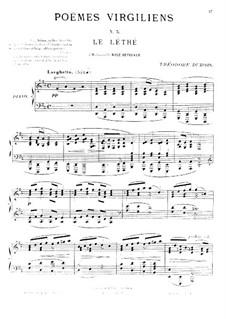 Poèmes virgiliens: No.5 Le léthé by Теодор Дюбуа