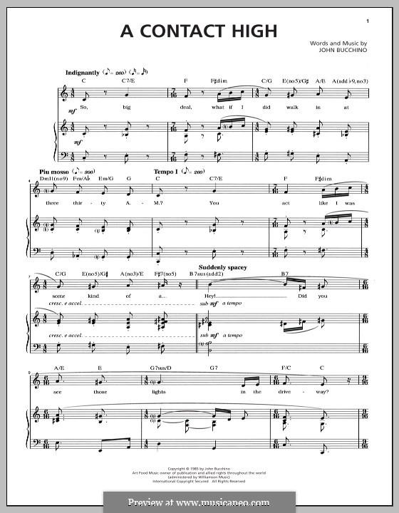 A Contact High: Для голоса и фортепиано by John Bucchino