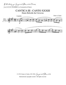 Lux In Tenebris: La Commedia di Dante: Cantica III: Canto XXXIII (Dante Beholds the Universe) – Dictionary of musical themes by Ennio Paola