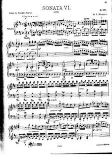 Соната для фортепиано No.6 ре мажор, K.284: С аппликатурой by Вольфганг Амадей Моцарт