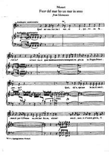 Fuor del mar ho un mar in seno: Клавир с вокальной партией by Вольфганг Амадей Моцарт