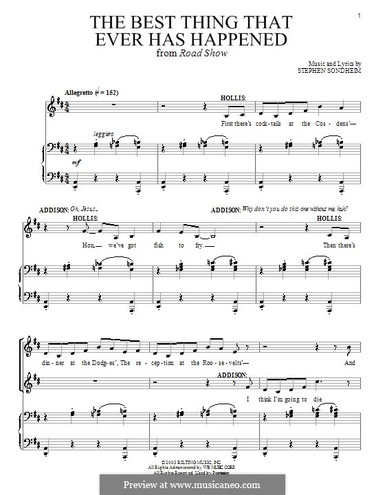 The Best Thing that Ever Has Happened (from Road Show): Для голоса и фортепиано by Stephen Sondheim