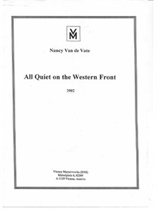 All Quiet on the Western Front: Партитура by Nancy Van de Vate