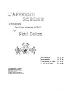 Ученик Чародея: Для фортепиано в 4 руки by Поль Дюка