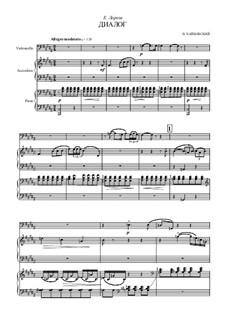 Восемнадцать пьес для фортепиано, TH 151 Op.72: No.8 Dialogue, for cello, accordion (or bayan) and piano by Петр Чайковский