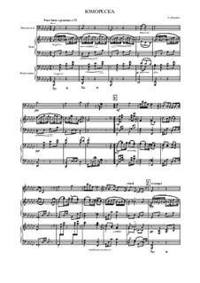 Юморески, B.187 Op.101: No.7, для виолончели, баяна (или аккордеона) и фортепиано by Антонин Дворжак