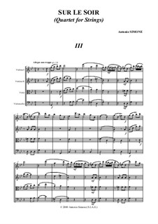 Sur le soir: Часть III by Antonio Simone