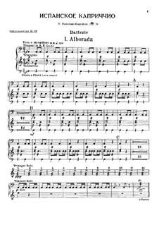 Испанское каприччио, Op.34: Партии by Николай Римский-Корсаков