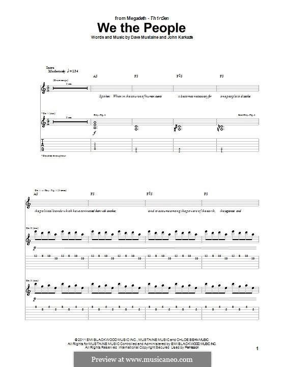 We the People (Megadeth): Для гитары by Dave Mustaine, John Karkazis
