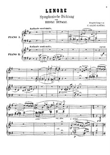Lénore: Для двух фортепиано в 4 руки by Анри Дюпар