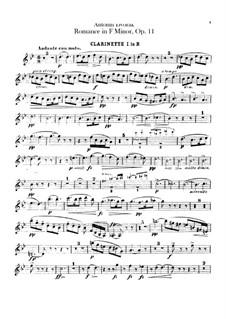 Романс фа минор, B.39 Op.11: Партии кларнетов by Антонин Дворжак