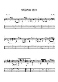 Pensando en ti: Guitar tablature by Antonio Alba