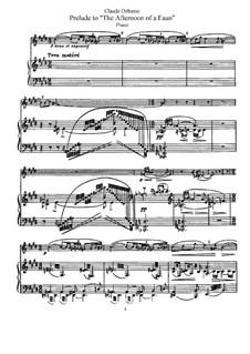 Послеполуденный отдых фавна, L.86: Переложение для флейты и фортепиано by Клод Дебюсси