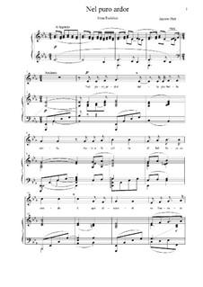 Эвридика: Nel puro ardor, for voice and piano by Джакопо Пери