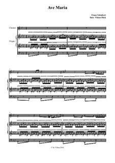 Аве Мария, для двух инструментов, D.839 Op.52 No.6: Для кларнета и органа by Франц Шуберт