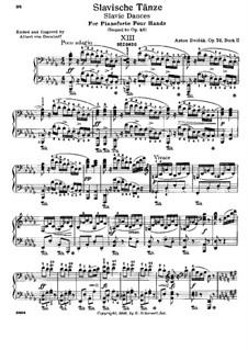 No.5 Шпацирка: Для фортепиано в 4 руки by Антонин Дворжак