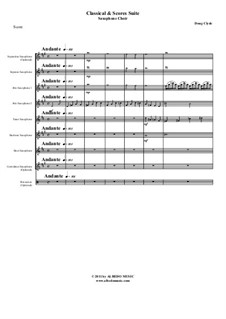 Classical and Scores Suite: For saxophone choir, AMSM66 by Doug Clyde