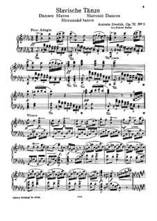 Тетрадь II: Для фортепиано by Антонин Дворжак