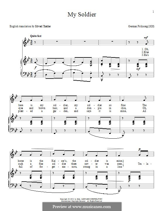 My Soldier: Для голоса и фортепиано by folklore