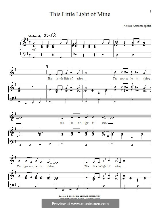 This Little Light of Mine: Для голоса и фортепиано by folklore