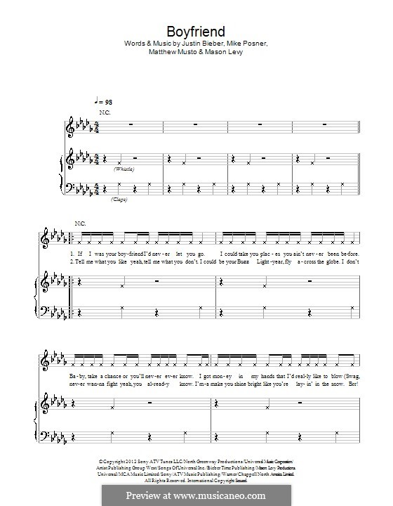 Boyfriend: Для голоса и фортепиано (или гитары) by Justin Bieber, Mason Levy, Mike Posner, Matthew Musto