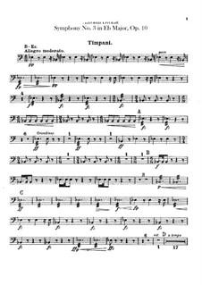 Симфония No.3 ми-бемоль мажор, B.34 Op.10: Партии ударных by Антонин Дворжак