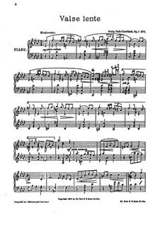 Пять пьес для фортепиано, Op.1: No.3 Valse lente by Осип Габрилович