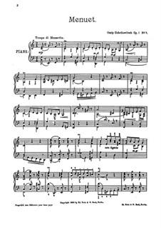 Пять пьес для фортепиано, Op.1: No.5 Менэт by Осип Габрилович