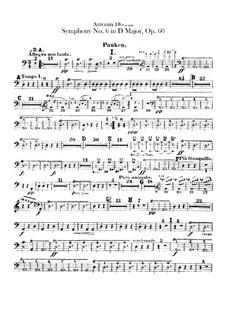 Симфония No.6 ре мажор, B.112 Op.60: Партия литавр by Антонин Дворжак
